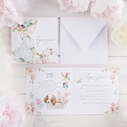 ZAPROSZENIA na Urodziny Flower Girl 10szt (+koperty)