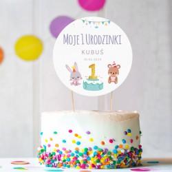 TOPPER na tort NA ROCZEK Urodzinkowy Pociąg Z IMIENIEM