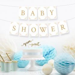 BANER girlanda Baby Shower BŁĘKITNY DUŻY FORMAT