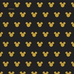 SERWETKI papierowe Mickey Gold CZARNE 33x33cm 20szt
