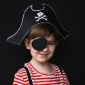 CZAPKA Pirata z opaską na oko PIRACI 14cm