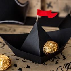 DEKORACJE papierowe Łódki Piraci 6szt