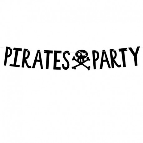 BANER girlanda Pirates Party PIRACI CZARNY 14x100cm