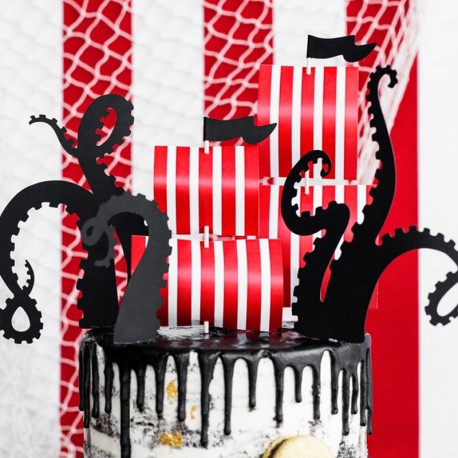 KARTECZKI na piku na tort i muffinki Piraci MIX 5szt