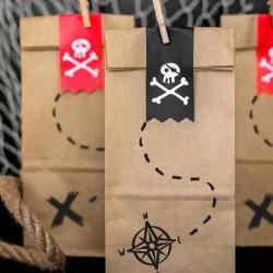 TOREBKI papierowe na słodycze Piraci 6szt