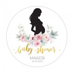 OPŁATEK personalizowany na Baby Shower Zapach Piwonii Ø20cm