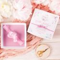 PREZENT na narodziny dziecka OPASKA na główkę Różowa delikatność (78) W PUDEŁKU
