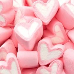 PIANKI Marshmallow Jasnoróżowe Serca MEGA PAKA 1kg