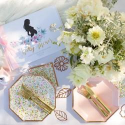 KUBECZKI papierowe z imieniem Zapach Piwonii Baby Shower (+etykieta) RÓŻOWE 6szt