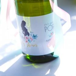 WINO bezalkoholowe dla Przyszłej Mamy Zapach Piwonii Baby Shower Z IMIENIEM