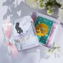 PREZENT dla Przyszłej Mamy KARTECZKI do dziecięcych zdjęć Piwonie Baby Shower W PUDEŁKU