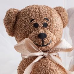 GRATULACJE Prezent na narodziny dziecka Ręcznik Misiu 50x100cm BRĄZOWY