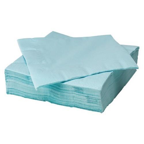 SERWETKI papierowe BŁĘKITNE 33x33cm 20szt