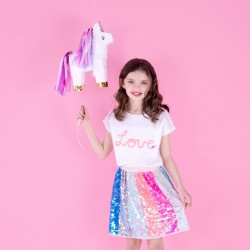 PINIATA urodzinowa Jednorożec z różową grzywą  39x13x55cm