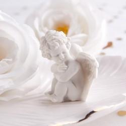ANIOŁEK podziękowanie na Chrzest i Komunię Białe Skrzydełka 5cm
