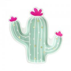 TALERZYKI papierowe Kaktus 6szt