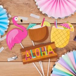 REKWIZYTY do zdjęć Hawajskie Party 10szt MEGA ZESTAW