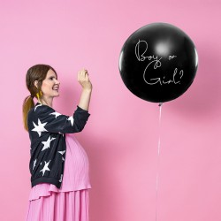 BALON Boy or Girl - DZIEWCZYNKA z różowym konfetti 1m