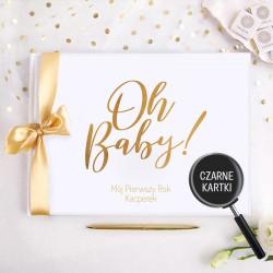 KSIĘGA Pamiątkowa Prezent na narodziny dziecka MÓJ PIERWSZY ROK Z IMIENIEM (+złota wstążka)