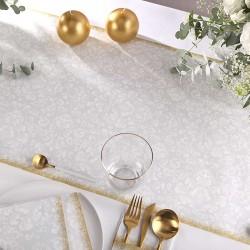BIEŻNIK flizelinowy Srebrno-Złoty Obrus 40cmx24m