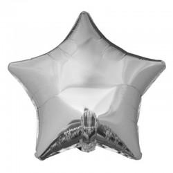 BALON foliowy Gwiazda 48cm SREBRNY