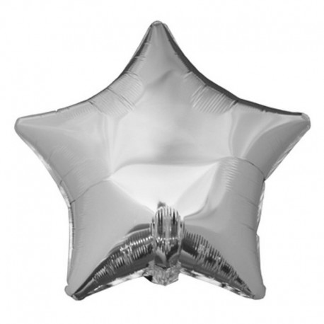 BALON foliowy Gwiazda 45cm SREBRNY
