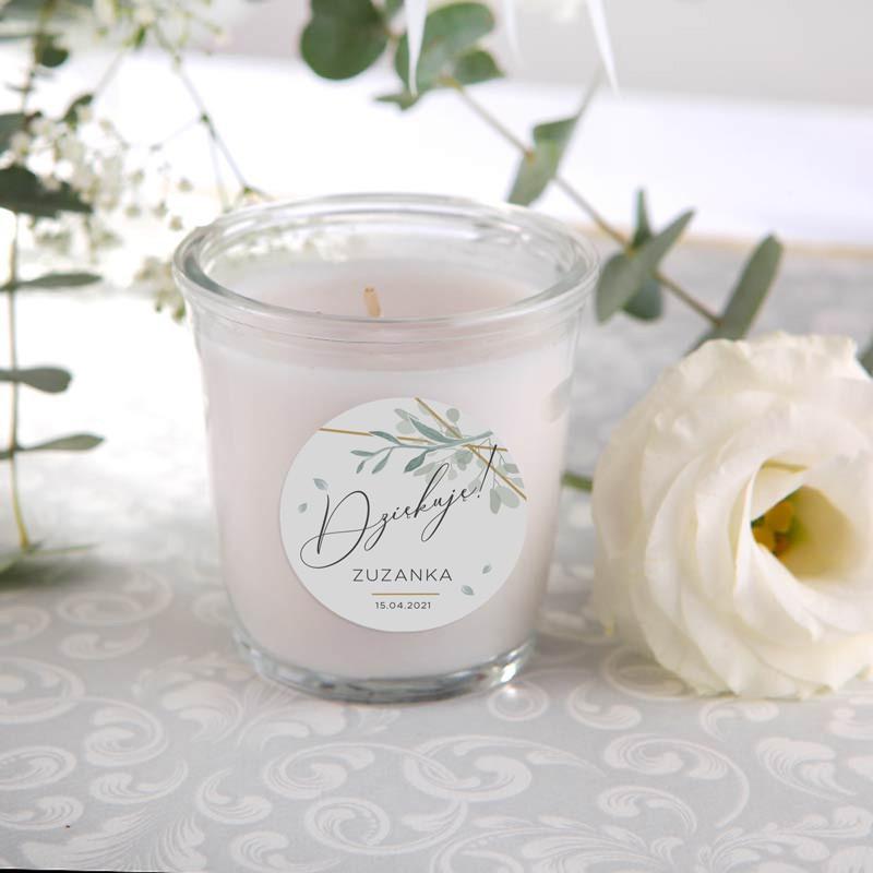 Świeczka zapachowa jako podziękowanie komunijne dla gości