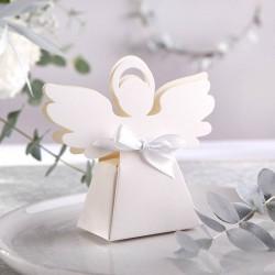 PUDEŁECZKA podziękowanie dla gości na Chrzest Aniołek 10szt (+białe wstążki)