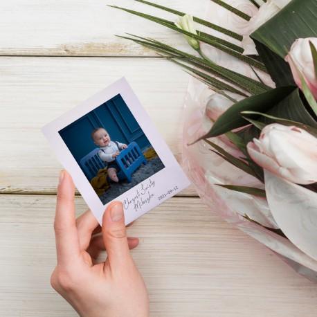 MAGNES ze zdjęciem dziecka Chrzest ala Instax