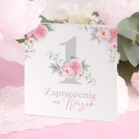 ZAPROSZENIA na Roczek Kwiatowa Jedynka 10szt (+koperty)