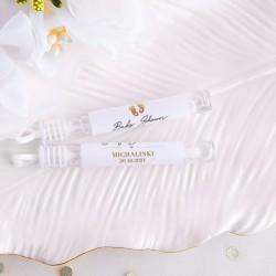 BAŃKI mydlane z personalizacją na Baby Shower Złote Stópki