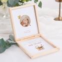 PROŚBA o bycie Chrzestnym pudełko ZE ZDJĘCIEM DZIECKA Złoty Wózeczek