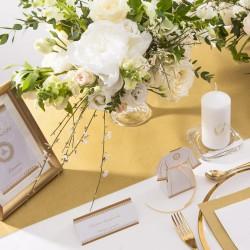 ZESTAW dekoracji stołu na Chrzest i Komunię ZŁOTY 5% TANIEJ