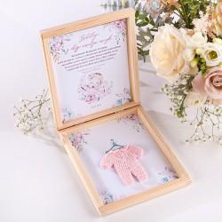 PREZENT na narodziny córki w pudełku RÓŻOWY KUBRACZEK
