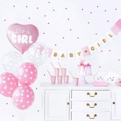 ZESTAW dekoracji na Baby Shower NIEBIESKI It's a girl