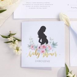 ZAPROSZENIA na Baby Shower Zapach Piwonii 10szt (+koperty)