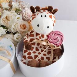 PAMIĄTKA Chrztu Świętego TERMOFOR Żyrafa w pudełku