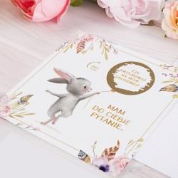 ZAPROSZENIA na Urodziny Zajączek ZE ZDRAPKĄ 10szt  (+koperty)