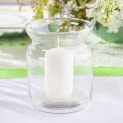 KOMPLET kielich szklany+świeczka dekoracja stołu komunijnego