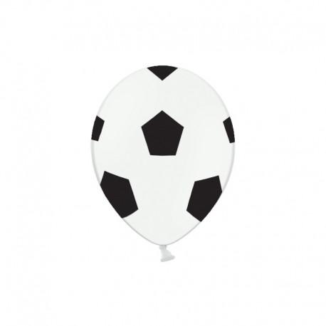 BALONY urodzinowe Piłka nożna 30cm 6szt