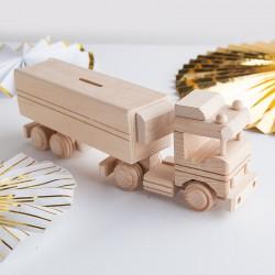 SKARBONKA Ciężarówka do malowania Drewniana