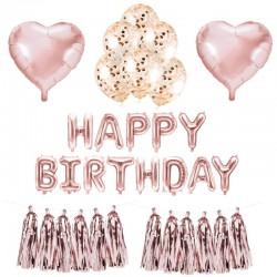 MEGA ZESTAW balonów urodzinowych bukiet ROSEGOLD