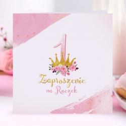 ZAPROSZENIA na Roczek Mała Księżniczka 10szt (+koperty)