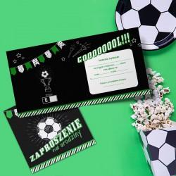 ZAPROSZENIA na urodziny Piłka Nożna 10szt (+koperty)