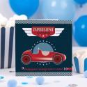 ZAPROSZENIA na urodziny Wyścigówka 10szt (+koperty)