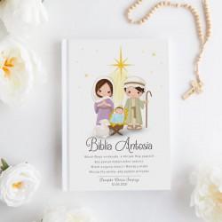 BIBLIA Pamiątka Chrztu Świętego Z IMIENIEM Święta Rodzina DUŻA