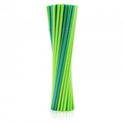 SŁOMKI biodegradowalne łamane zielone 40szt BĄDŹ EKO