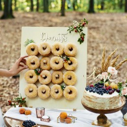 ŚCIANKA na donuty drewniana 45x55cm
