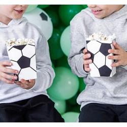 PUDEŁKA  na popcorn/słodycze Piłka nożna 6szt