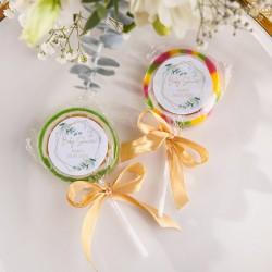 LIZAKI podziękowanie na Baby Shower Botaniczne (+etykiety z imieniem) 10szt
